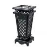 求购 公园景区园林烤漆垃圾桶 冲孔环卫果皮箱