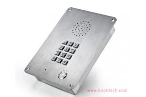 电梯SIP电话机 嵌入式金属防暴 一键自动拨号应急求助